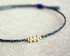 Nieuwe Shiloh gevlochten versie / vriendschap armband met goud weven patroon - Kies uw kleuren