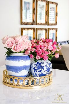 Trendy Trio - Trend Alert Pink and Blue how to add this trendy color combo to your home decor, table and closet - classic color combination