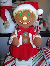 """TELCO GINGERBREAD GIRL 24"""" RARE ANIMATED MOTIONETTES CHRISTMAS DECORATIONS"""