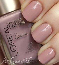 LOreal Doutzens Nude Collection Privee #ManiMonday   Muted Marble Nail Art with LOreal Paris Collection Privée