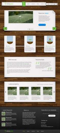 Website Template Design by