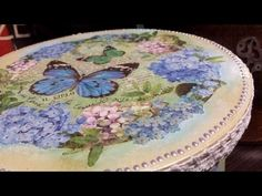 Caja decoupage con papel de arroz - YouTube