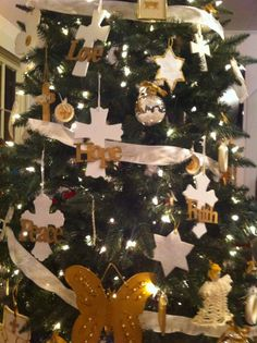 Thanks to all the church members at Wesley's Chapel UMC for the beautiful handmade gold and white Chrismon ornaments.