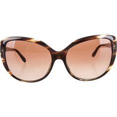 Pre-owned Oliver Peoples Sunglasses ($95) ❤ liked on Polyvore featuring accessories, eyewear, sunglasses, brown, oliver peoples glasses, cateye sunglasses, brown glasses, oliver peoples eyewear and cateye glasses