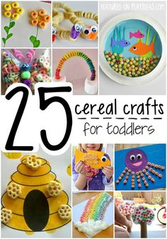 These Cereal Crafts for Toddlers are adorably, edibly cute. Your kiddo is going to eat them up! Click now!