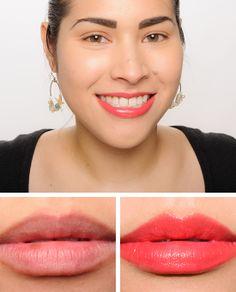 Guerlain Geraldine (77) & Geneva (48) Rouge G Lipsticks Reviews, Photos, Swatches