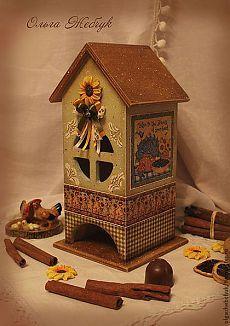 """Чайный домик """" Мечты о лете """" - коричневый,чайный домик,чайный…"""