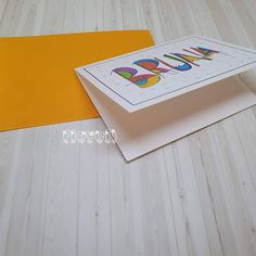 flavoli Papelaria Personalizada: Cartão duplo com ilustração exclusiva Personalized Stationery, Fiestas, Craft