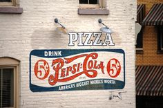 Pizza/Pepsi-Cola ghost signage, Stanford, KY- I see this sign every morning