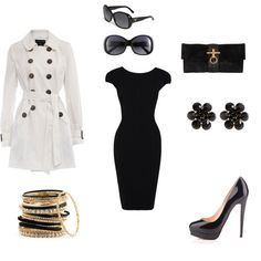 Hollywood glam!  - This reminds me of the outfit Audrey Hepburn outfit in Breakfast at Tiffanys