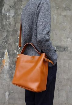 Avery Leather Bucket Tote ASOS