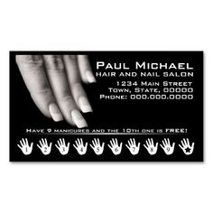 Customer Loyalty Cards | Nail Salon Business Cards