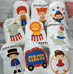 Cumpleaños partido Favor bolsas circo amigos gran por CharleysCache