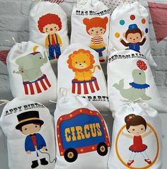 Birthday Party Favor Bags Circus friends Great for Treat or Gift Bags…