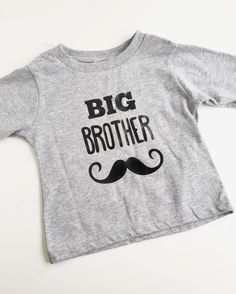Big Brother Shirt  Long Sleeve Toddler Tee by EweAndMeShop on Etsy
