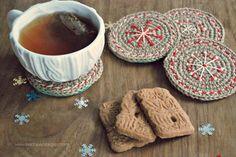 DIY: Crochet Navidad Posavasos