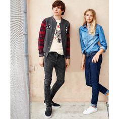 Blusão estilo teddy, mangas aos quadrados 10-16 anos R Teens | La Redoute