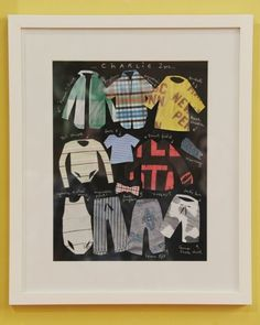 Frame fabric silhouette memory artwork. | 26 Ways To Preserve Your Kids' Memories Forever