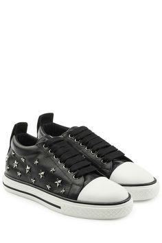 R.E.D. Valentino - Leather Studded Sneakers | STYLEBOP