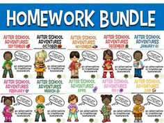 Are you, your students, and their parents tired of traditional homework? If so, this bundle might be just what you are looking for! This product is an alternative to traditional homework and will contain 16 engaging After School Adventures for each month, September - June, focusing on word work, reading/writing, math, and STEAM STEM activities.