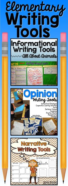 Elementary Writing Tools is a bundle of Informational Writing Tools, Narrative Writing Tools, and Opinion Writing Tools that provide resources to enhance your writing instruction. The bundle is focused on second and third grades, although it can be adapted for other grade levels.