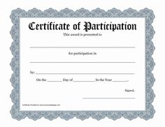Free Printable Award Certificate Template Bing Images Art in Certificate Of Participation Word Template - Professional Templates Ideas Certificate Of Recognition Template, Certificate Of Participation Template, Certificate Of Completion Template, Birth Certificate Template, Blank Certificate, Certificate Border, Digital Certificate, Funny Certificates