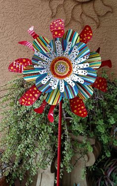 67 recycled metal sunflower garden stake yard decor lawn