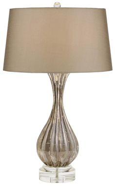 Cagney Shimmer Glass Table Lamp | LampsPlus.com