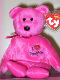 8996d3d324e Ty Beanie Baby ~ I LOVE PENNSYLVANIA the Bear ~State Exclusive ~ MINT ~  RETIRED