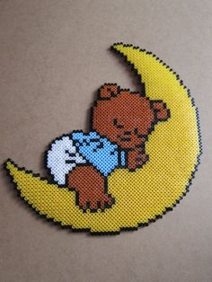 Baby bear hama perler beads by passionperleshama