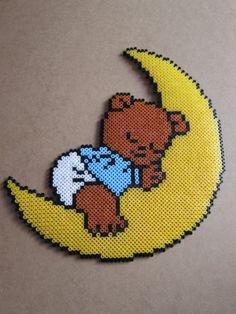 Baby bear hama perler beads by passionperleshama