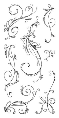 Sketchy flourishes #doodle