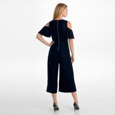 c4219dfba Cold Shoulder Velvet Jumpsuit - Dresses   Jumpsuits - Sale - Karl Lagerfeld  Paris