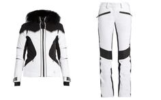 Lacroix Pulse hooded ski jacket, £671, and Distinction leather-panelled ski trousers, £503, Matches Fashion