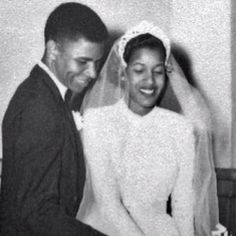 Medgar Evers and his wife.