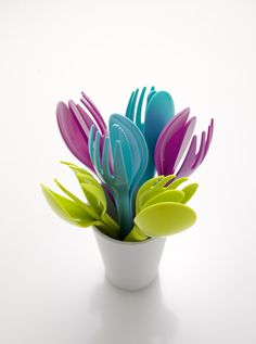 Reflect Blossom Flatware Set with Small Cup