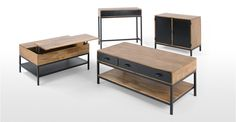 Lomond Compact Sideboard, Mango Wood and Black | made.com