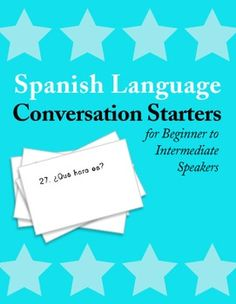 Even the most beginner Spanish students can have conversations if you give them easy questions geared to their level. These conversation starters are perfect for Spanish 1 or 2.