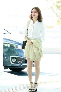 Gong Seung-yeon 공승연, '출근하는 회사원 포스' (공항패션) Korean Actresses, Asian Actors, Korean Actors, Actors & Actresses, Korean Celebrities, Celebs, Celebrities Fashion, Airport Style, Airport Fashion
