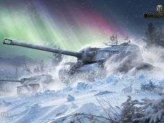 Tanks under the northern lights, the game World of Tanks