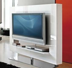 Best-Rotating-Television-Stand-Ideas ~ http://www.lookmyhomes.com/moving-the-tv-with-ease-rotating-television-stand/