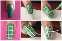 how to do San Patrick Nail Art www.romyspace.it