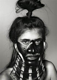 Stunning mask photography by Richard Burbridge published in the current issue of Swedish Livraison Magazine.