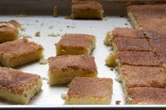 Cinnamon Sugar Cookie Squares are sweet, soft, and flavored with plenty of cinnamon. Great for feeding a crowd! - Bake or Break