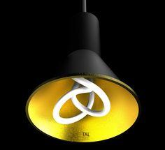 Plumen 001 in a TAL 'Hood' in Gold - http://www.tal.be/en/product_search_3547.htm