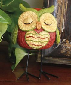 Look at this Knit Heart Sleeping Owl Figurine on #zulily today!