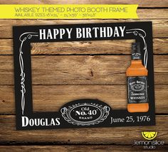 DIGITAL Customized Whiskey Themed Birthday by LemonSliceStudio