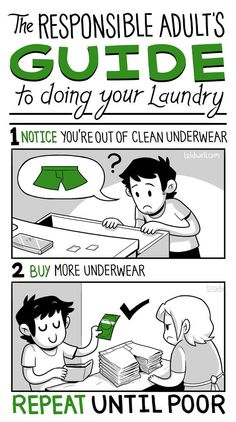 The responsible adult's guide to doing your laundry