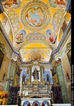 Europe, France, Alpes-Maritimes. Eze. The famous perched village. Baroque Church of Our Lady of the Assumption.