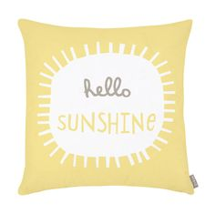 Cushion . Hello Sunshine - this is one of our best selling products and we love it so we definitely wanted one in the new kids room.